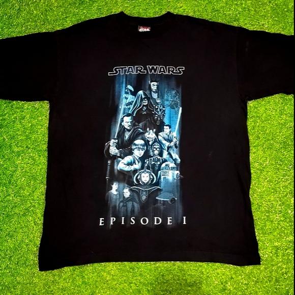 Vintag 1999 Star Wars Episode 1 Full Character Tee